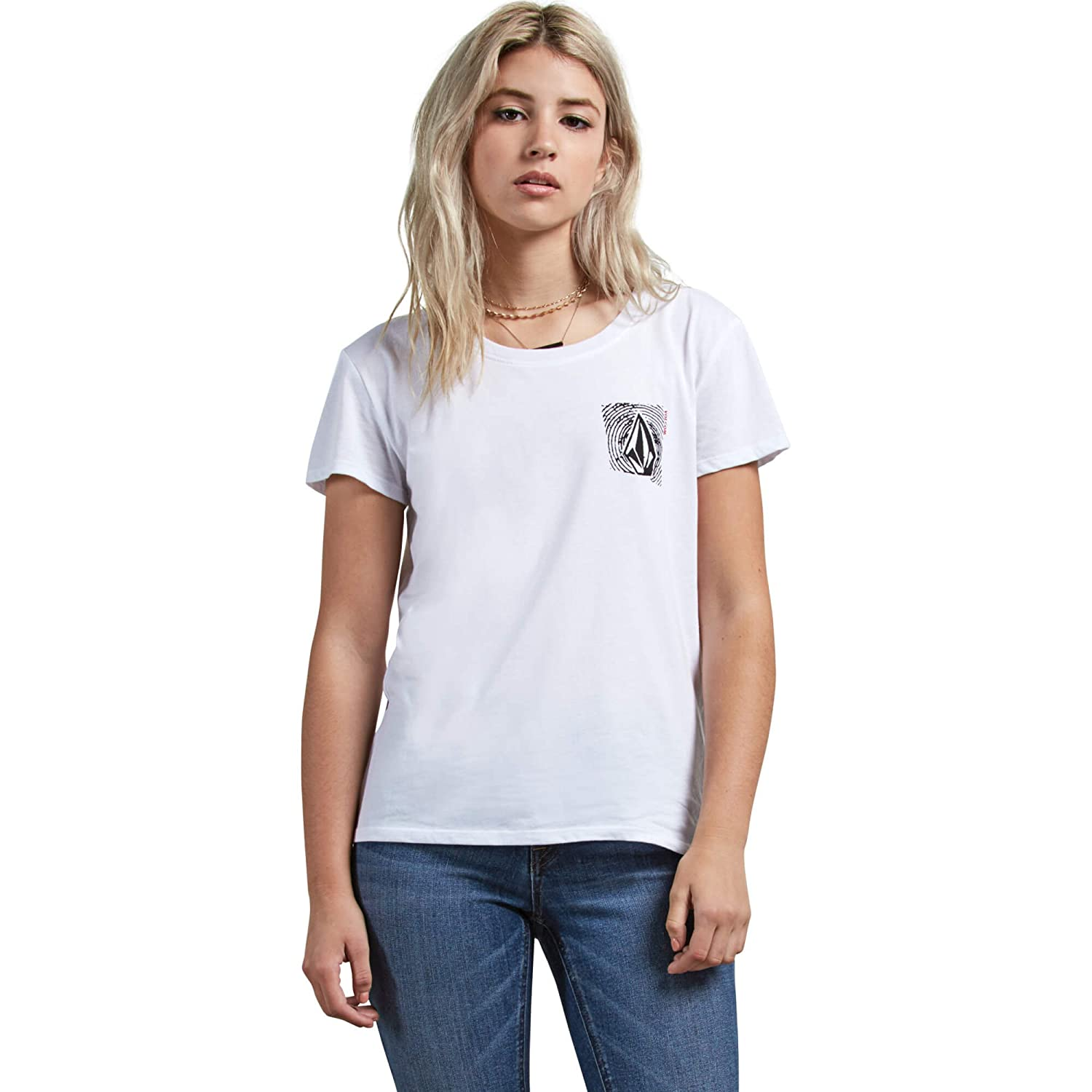 Volcom Womens Easy Babe Rad 2 Fitted Short Sleeve Tee