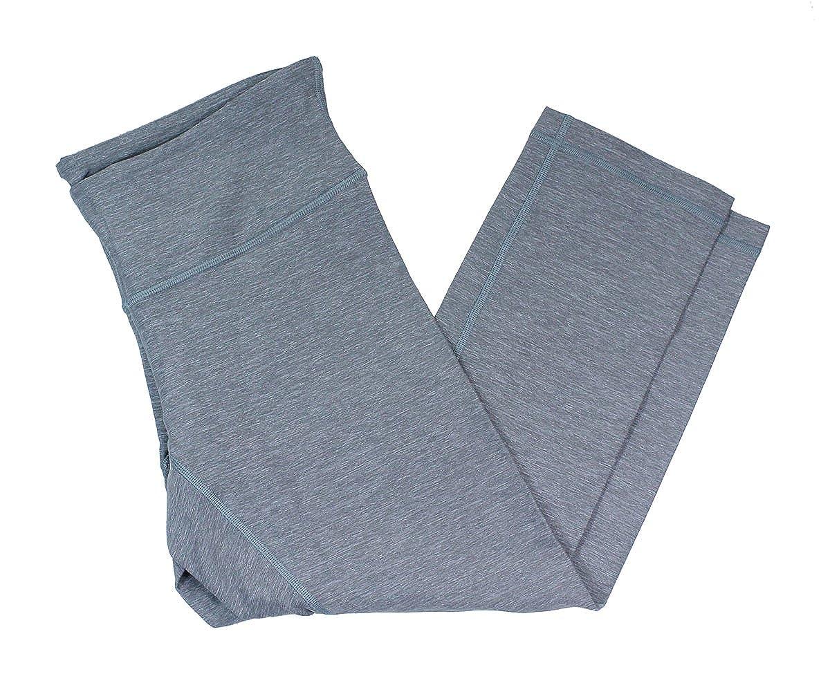 Lululemon Wunder bajo Crop pantalones de yoga heathered gris ...