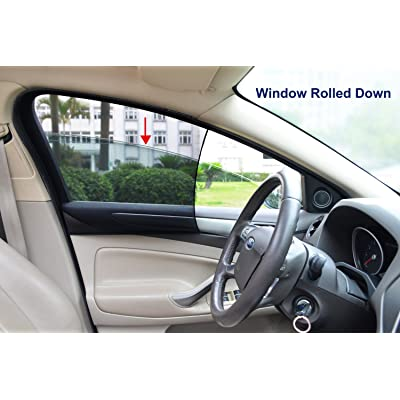 Bayan Car Front Side Window Sunshades Driver Side Window Sun Shade-Intended for Most Sedans-Reduce 43ºF Cut 94% UVA and 99% UVB-2 Pack: Automotive