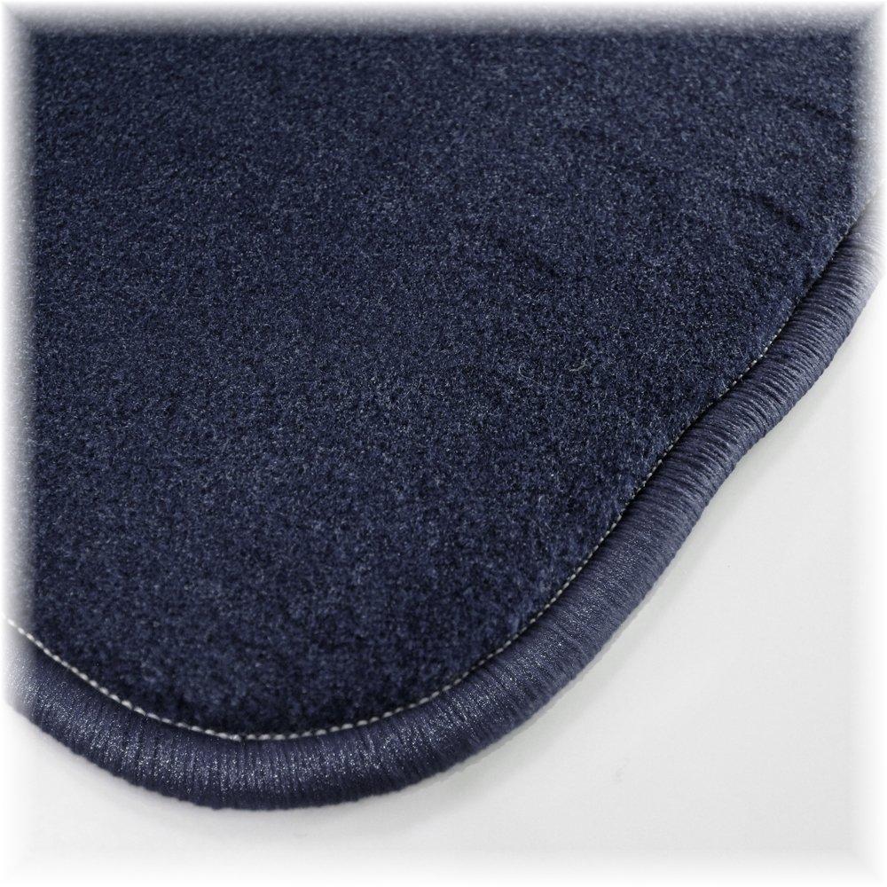 Passgenau f/ür Modell Siehe Details Textiler Trittschutz B/är-AfC VW04111 Royal Auto Fu/ßmatten Velours Blau Rand Kettelung Blau Set 4-teilig