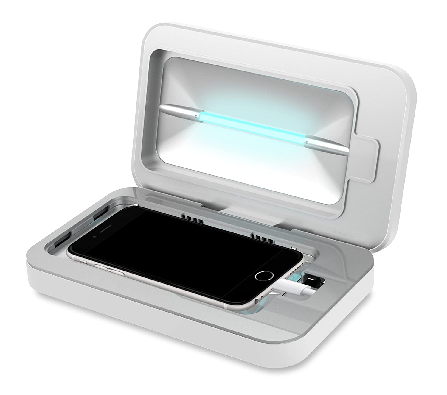Phonesoap 20 Uv Sanitizer And Universal Phone Charger Cell Shield With Now Fits Iphone 6s Plus Phablets White Phones Accessories