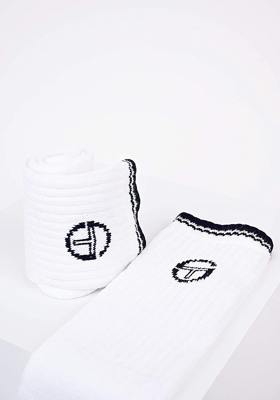 Sergio Tacchini Terry Mens Tennis Socks Pack of 3 Striped