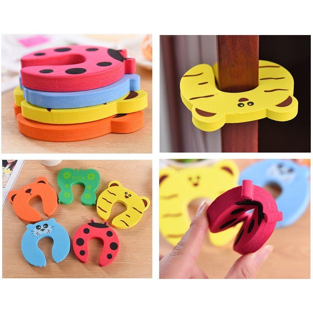 D /& /& R 6/PCS Baby Sicherheit Finger Pinch Guard Kissen Keil Animal Designs f/ür Baby//Kinder sicher Animal Schaumstoff T/ür Stopper