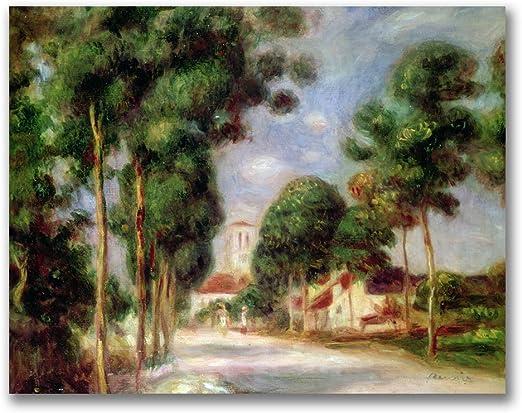 Landscape near Essoyes   by Pierre Renoir Giclee Canvas Print Repro