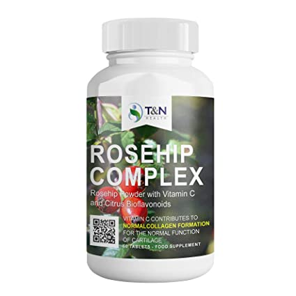Rosehip Tablets for Arthritis - Rich in Vitamin C - Herbal Medication with Anti-inflammatory