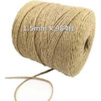 PHOLSY Longer Jute Twine Christmas Durable Packing String 984 Feet Natural Jute String 3Ply Jute Rope for Photo Wall…
