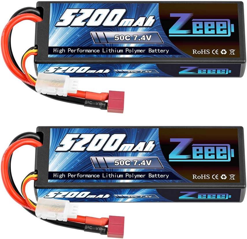 2 baterias Lipo 2S 50C 5200mAh conector Dean-Style T