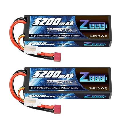 Amazon.com: Zeee 2s batería de polímero de litio 7.4 V 50 C ...