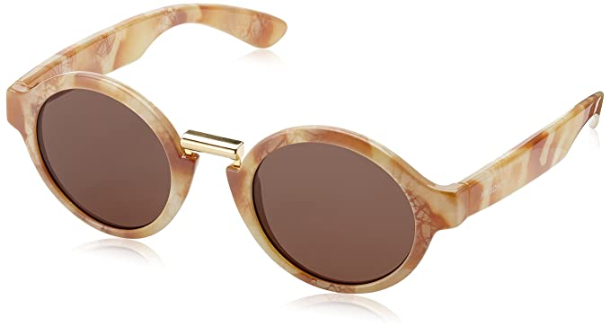 MR.BOHO, Marble dalston with classical lenses - Gafas De Sol unisex color beige, talla única