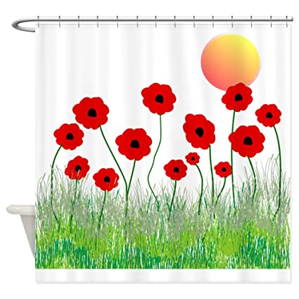 Image Unavailable Not Available For Color CafePress Poppies Shower Curtain