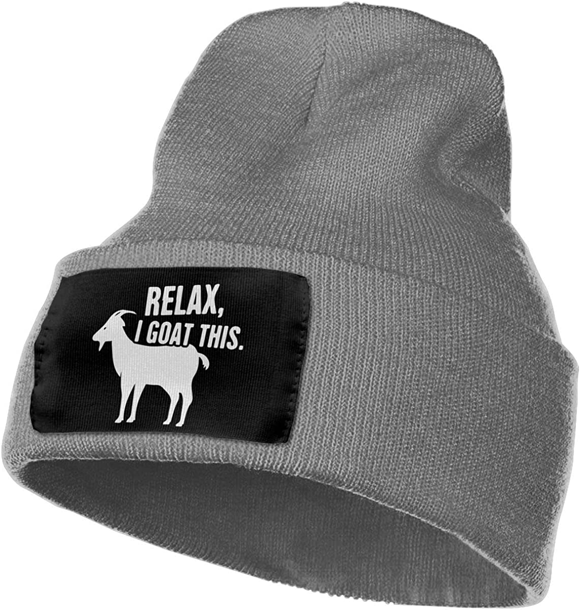 COLLJL-8 Men /& Women Relax I Goat This Outdoor Warm Knit Beanies Hat Soft Winter Knit Caps