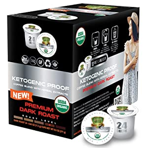 SOLLO KETOgenic Proof Dark Coffee Pods, KETO & Paleo Diet, 0 g CARBS - Supports Weight Loss, Metabolism Functions and Increases Energy, MCT, Vegan, Compatible With 2.0 K-Cup Keurig Brewers, 24 Count