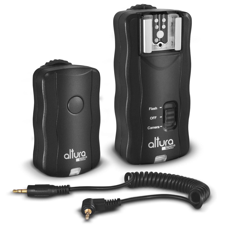 Altura Photo Wireless Flash Trigger for CANON w/Remote Shutter (Canon EOS 80D, 77D, 70D, 60D, Rebel T7i, T6i, T6, T5i, T5, T4i, T3i, T3, SL1, SL2 DSLR Cameras) FBA_KZ0120