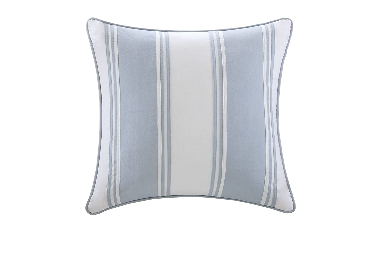 Harbor House Crystal Beach Square Pillow, White, 18 by 18-Inch