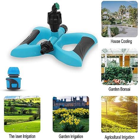 YD-outdoor Sistema de riego para césped y jardín, aspersor de Agua, rociador de Agua Giratorio Ajustable, móvil tándem de rotación de 360 °, para el Patio de los niños: Amazon.es: Deportes y