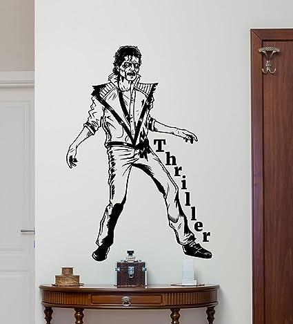Michael Jackson Wall Decal Moonwalker Thriller Vinyl Sticker ...