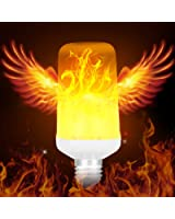 Warmoon LED Flame Light Bulbs True Fire Color E26 Atmosphere Creation Decorative Led Flame Effect Light Bulbs for Home Hotel Bar Halloween Christmas Decorations (Fire Up)