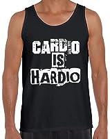 Awkward Styles Men's Cardio Is Hardio Tank Tops White Workout Gym