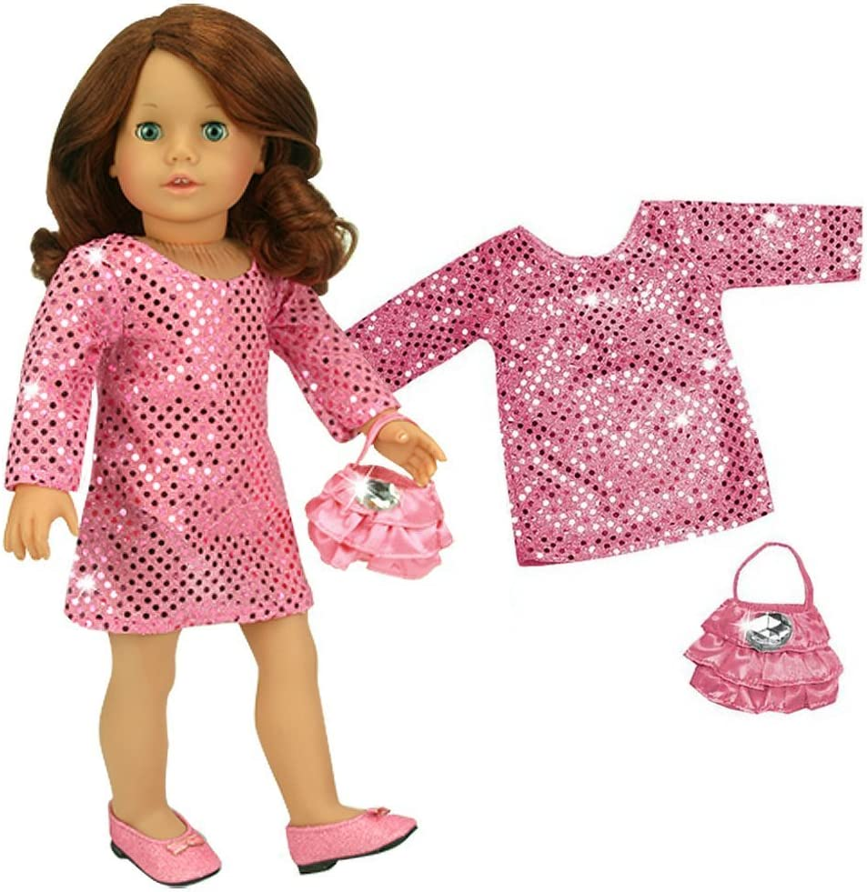 American Girl 2018 /'Tis the Season Party Dress Fancy Silver Purse for Doll Only