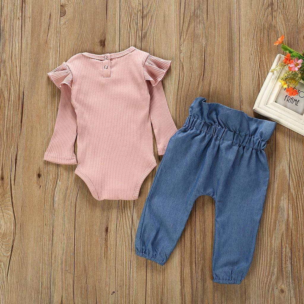Pantaloni Jeans Set Abiti Pigiama Vestito Eleganti Autunno Primavera Completi GiveKI Neonati Completi Ragazze 6-24 Mesi Bambino Tute Pagliaccetto Tutina Fumetto Manica Lunga Body