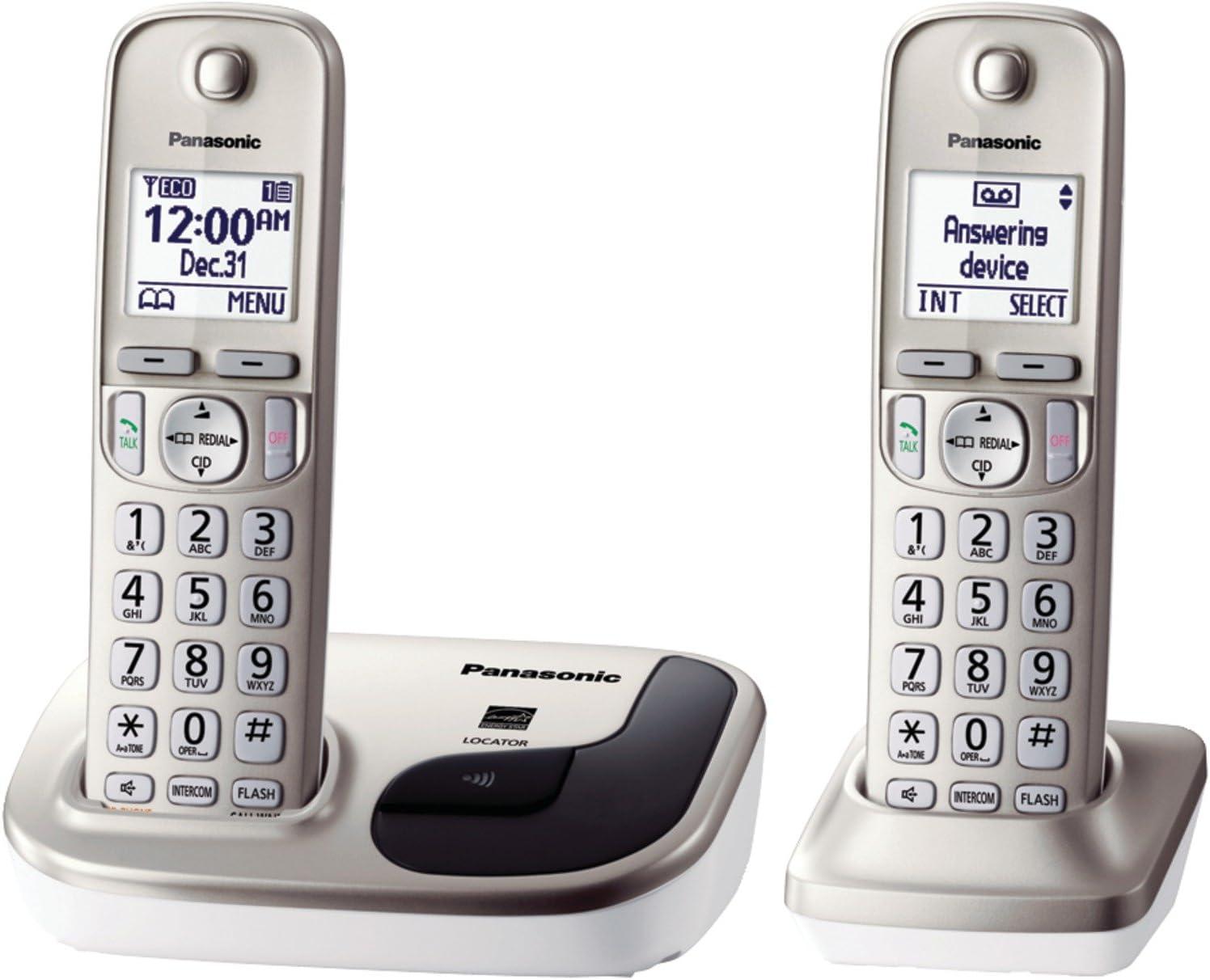 NEW Panasonic KX-TGD210N Expandable Digital Single Cordless Phone FREE GIFT LOOK