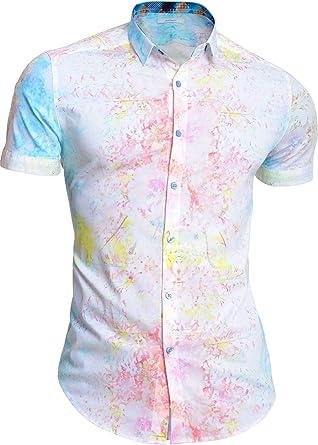 Camisa de Manga Corta para Hombre Mondo Blanco Tie Dye ...