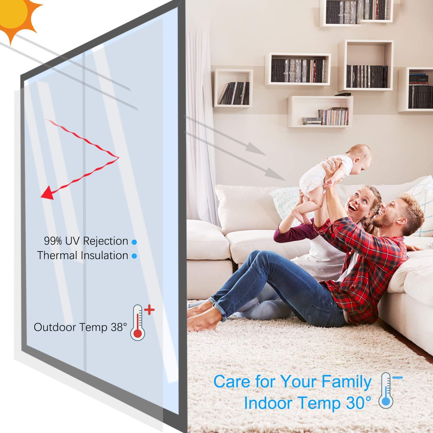 Silver, 23.6 x 78.7 One Way Mirror Window Film Anti UV Window Tint Decorative Daytime Privacy Glass Heat Control Reflective Window Tint for Home Office Living Room Meeting Room