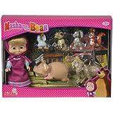 Simba - Masha et Ses Petits Animaux Mini Poupée Set 7 Pièces, 109301020