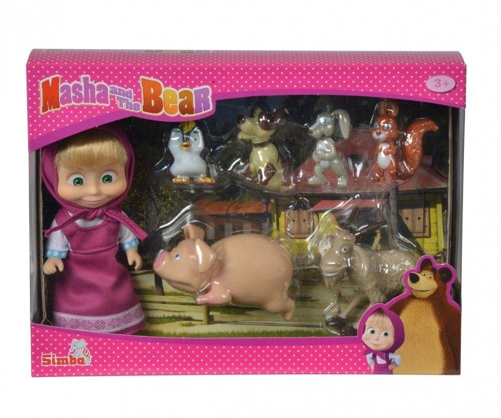 Simba - 109301014 - Masha & Micka - Poupée Masha Anniversaire - + Accessoires - 12 Cm Simba Toys