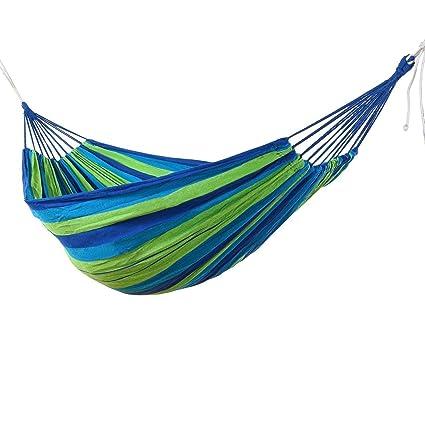Vellex Swing Camping Canvas Fabric Portable Garden Hammocks Striped Ultralight Outdoor Beach Swing