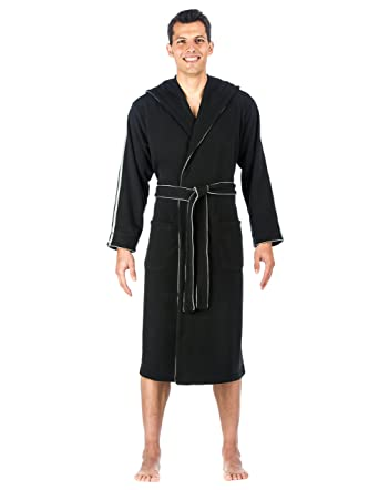 af26cbc999 Noble Mount Mens Fleece Lined Hooded Robe at Amazon Men s Clothing ...