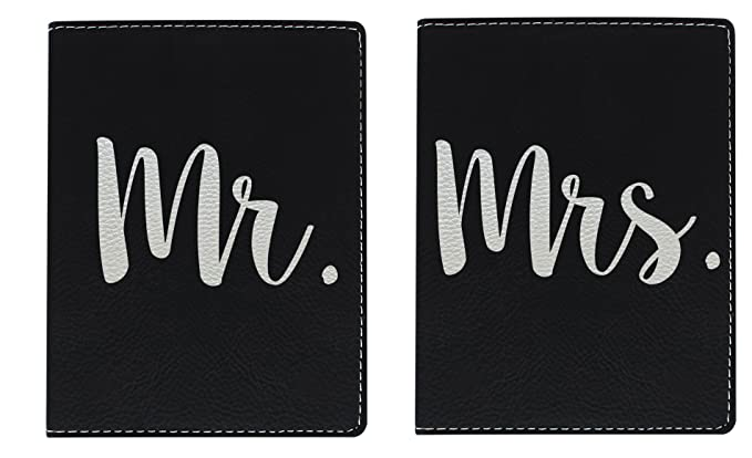 Honeymoon Travel Gifts Mr & Mrs Newlywed Passport Holder Travel Honeymoon Gifts for Bride and Groom