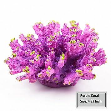 Wecail - planta de coral artificial para decoración de acuario, arte, resina, pecera