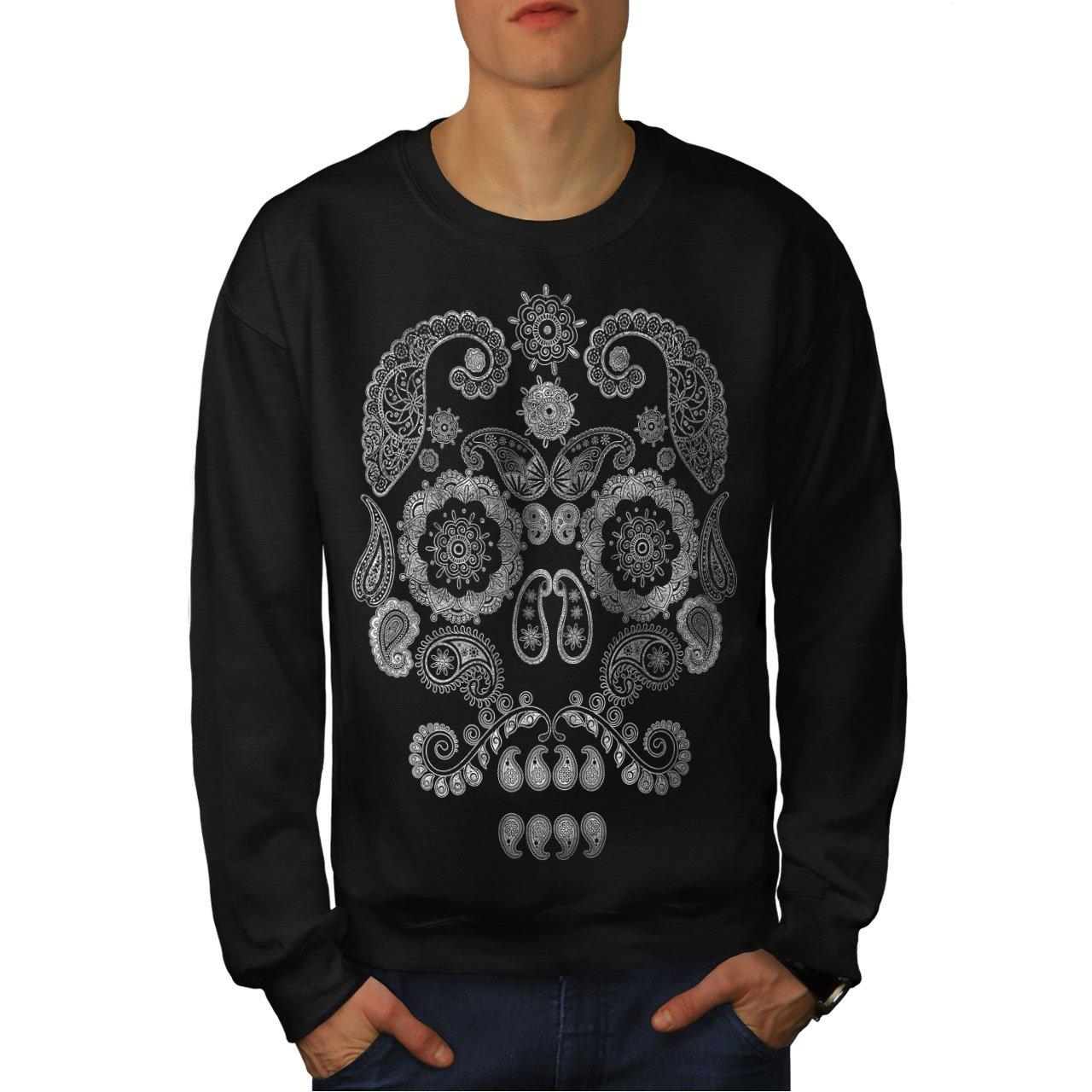 Wild Casual Jumper wellcoda Face of The Skull Mens Sweatshirt