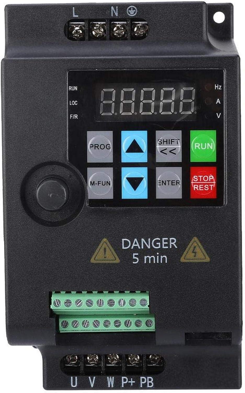 Frequenzumrichter 220v 2 2kw Jectse 1 Phasig 220v Bis 3 Phasig 220v Mini Vfd Inverter Vektorregelung Vfd Drehzahlregler 220vac 2 2kw Baumarkt