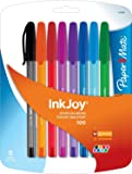 Paper Mate InkJoy 100ST Ballpoint Pen, Medium, Fashion Colors, 8-Count