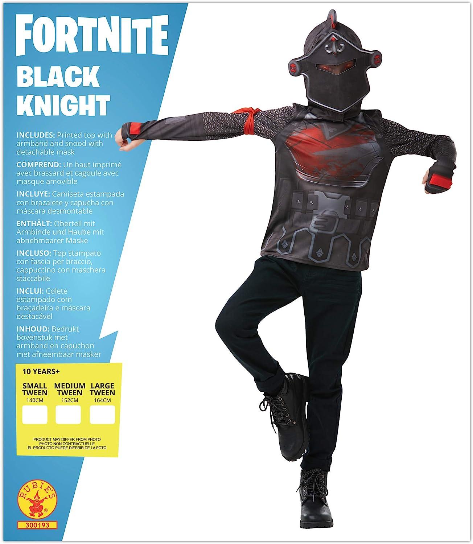 Amazon Com Rubie S Fortnite Black Knight Adult Costume Top Mask Clothing