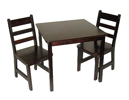 Amazon.com: Lipper International 514E Child\'s Square Table and 2 ...