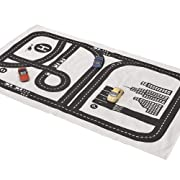 Lzttyee Rectangle Highway Pattern Baby Racing Game Blanket Crawling Mat Adventure Carpet Playmats Area Rug for Kid's Bedroom