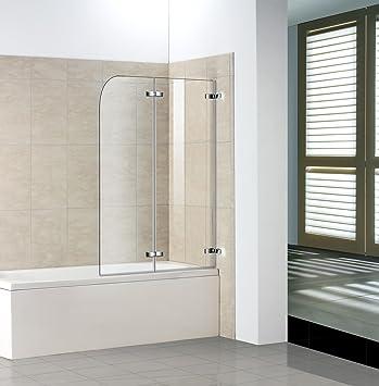 120x140cm Duschabtrennung Badewannen Faltwand Aufsatz