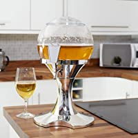 Tabletop Beer Orb Drink Dispenser 3.5L with Ice Core - Suitable for any Cold Beverage, Cocktails, Juice, Wine - Great for Events Parties and BBQ's