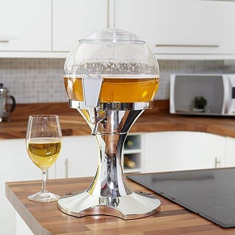 SA Products Mesa Cerveza Orb Bebida dispensador 3,5 L con núcleo de Hielo –
