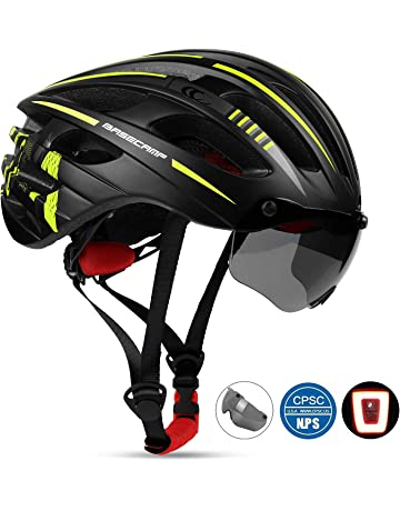 a30f4d6a650 Bike Helmet, Basecamp CPSC Safety Standard Bicycle Helmet with USB  Rechargeable LED Light&Magnetic Goggles BMX