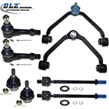 DLZ 8 Pcs Front Suspension Kit-2 Upper Control Arm Ball Joint Assembly 2 Lower Ball Joint 2 Inner 2 Outer Tie Rod End for 1998-2001 Ford Explorer Ford Ranger Mazda B3000 B4000 Mercury Mountaineer