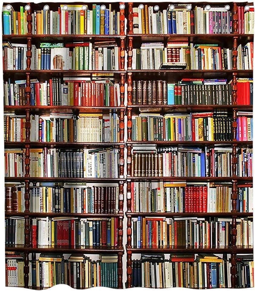 LRSJD Biblioteca Cortina de Ducha Librero Colección Libros