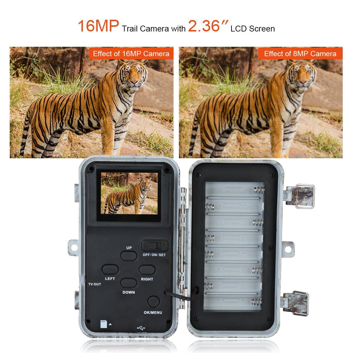 amazon com blazevideo 16mp hd trail hunting wildlife camera
