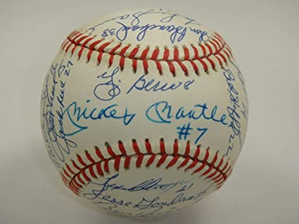 aff048002 Image Unavailable. Image not available for. Color: 1961 Yankees Team Signed  By 31 Baseball Mickey Mantle #7 Autograph Wow! - PSA