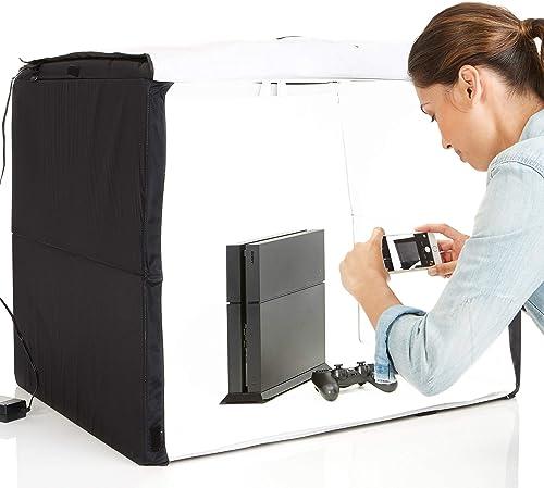 Amazon Basics Portable Photo Studio LED Lightbox (Foldable) 25 x 30 x 25