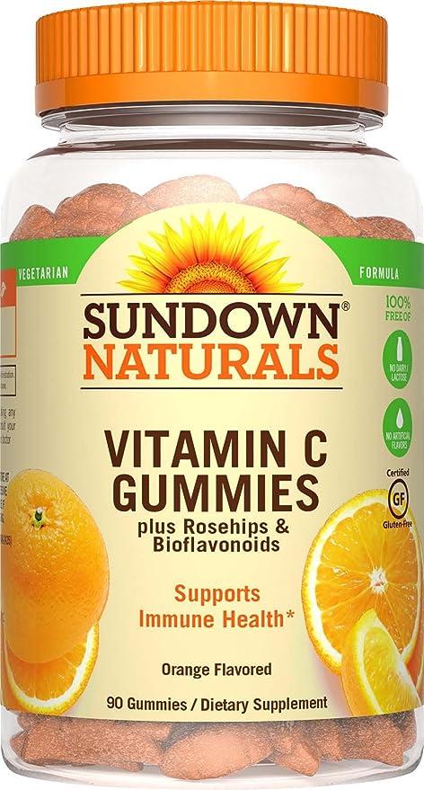La vitamina C Gomitas, sin gluten, aroma de naranja - Rexall Sundown Naturals