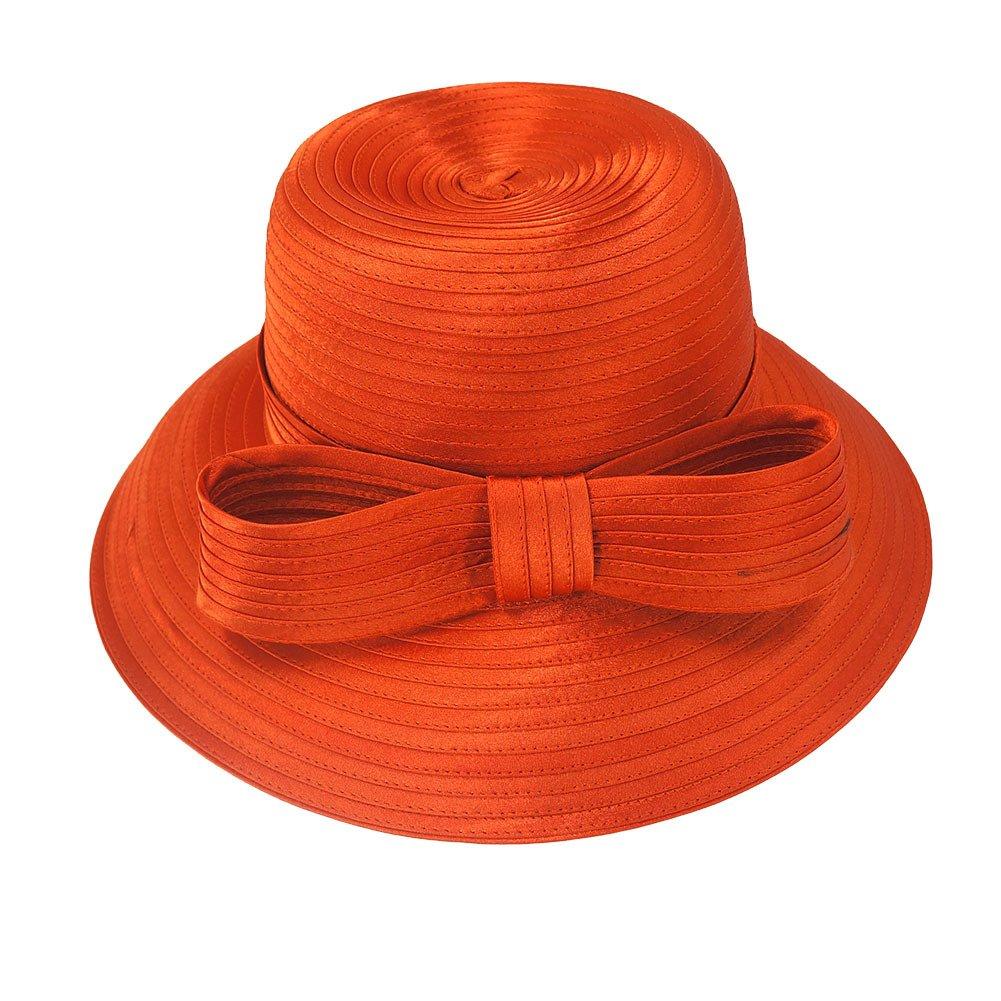 Koola Women Hat Polyester Church Derby Warm Big Brim Thicken Hat
